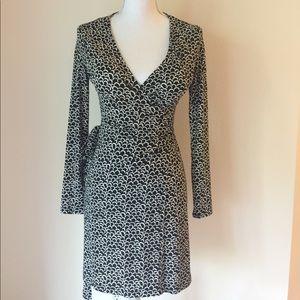Vintage Wrap Dress Black and White